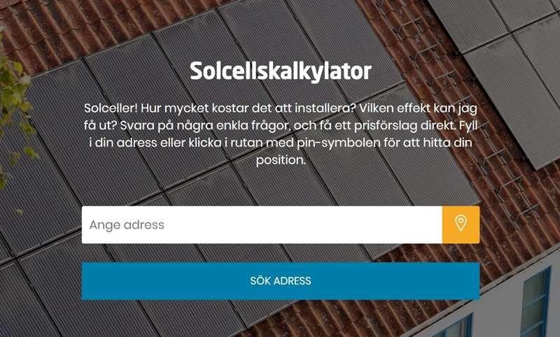 Solcellskalkylator